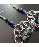 Black designed lampwork bead earrings  - $30.00