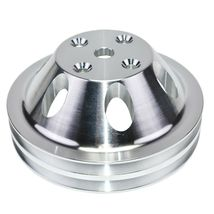 Chevy Small Block Double-Groove Aluminum Long Water Pump Pulley image 5