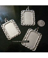 3 Photo picture frame pendants add photo for personalized photo jewelry ... - $4.92