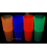 Assorted Neon Blacklight Reactive 10oz Party Cups 50ct - $8.95
