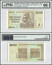 Zimbabwe 500,000 (500000) Dollars, 2008, P-76a,UNC,REPLACEMENT / STAR,PM... - $24.99
