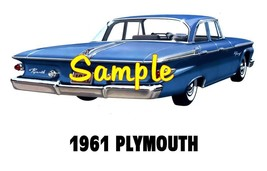 1961 Plymouth 'H' Cars Sales Service Dealer T-shirt  Decal Signs - $14.95+