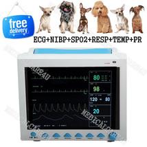 Veterinary ICU Patient Monitor Vital Signs Monitor ECG NIBP SPO2 RESP TE... - $488.20