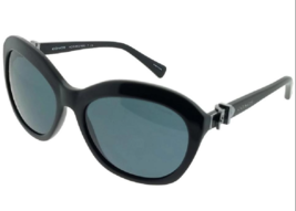 Coach Cat Eye Women's Black Frame Grey Lens Sunglasses w/ Coach Hard Cas... - $84.15