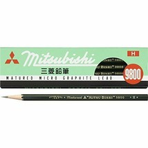 K9800H Mitsubishi Pencil office pencil 9800 H 12 pieces - $6.27