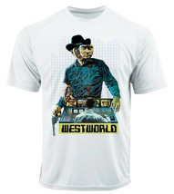 Westworld Dri Fit graphic Tshirt moisture wicking superhero comic SPF tee image 2