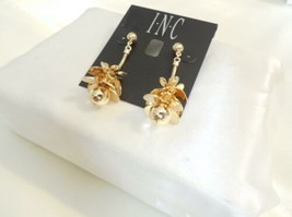 INC International Concepts Gold-tone Lotus Flower Drop Earrings B788 $26 - $13.43