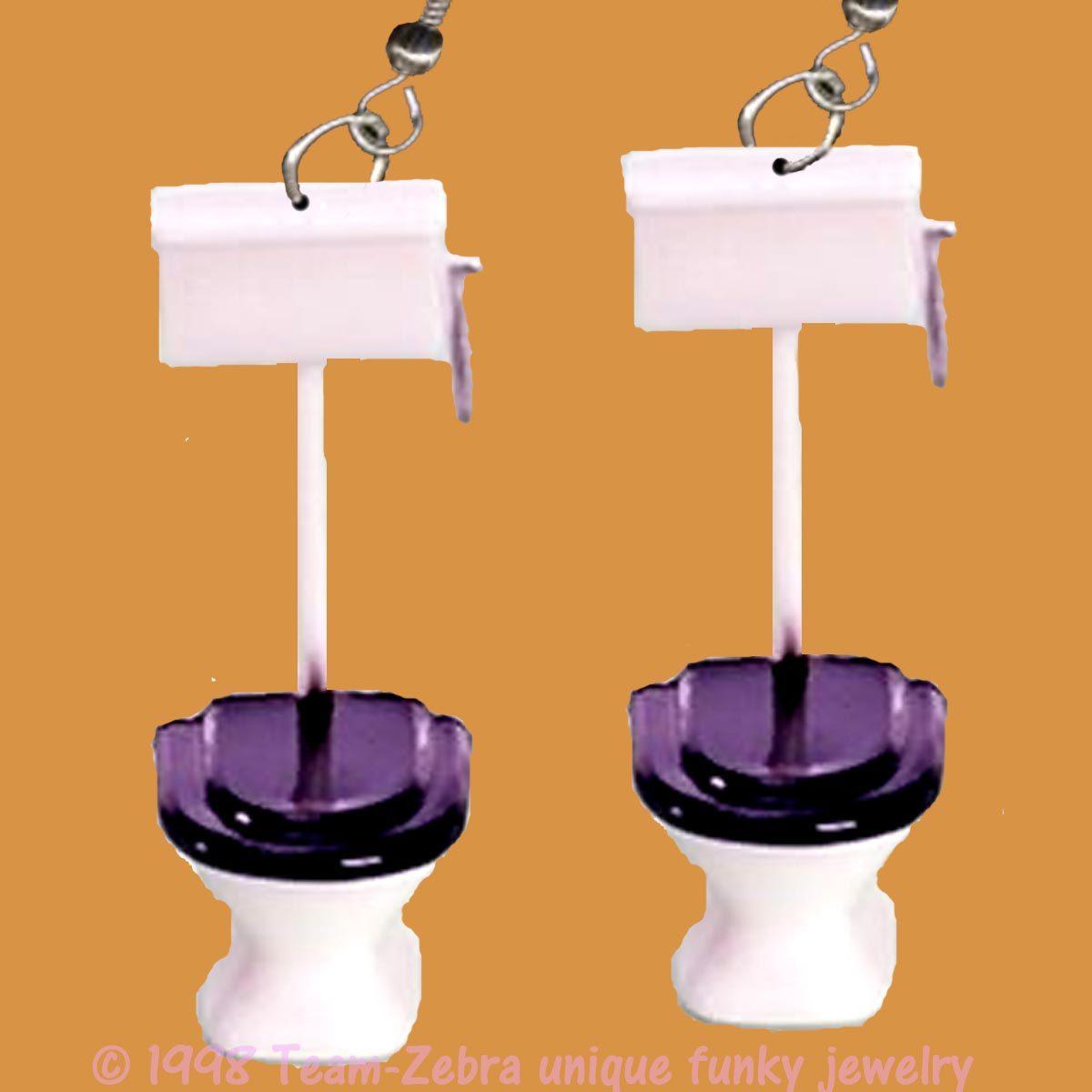 Toilet earrings new a