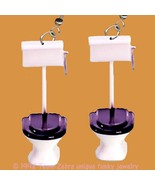 Bathroom Commode Loo-TOILET EARRINGS-Funny Plum... - $10.97