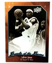 LeBron James 2009-10 Upper Deck Greats of The Game Card #40 St. Vincent-... - $3.91