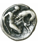 HERAKLES killing Nemean Lion, ATHENA Taras Ancient Greek Silver Coin Vla... - $314.10