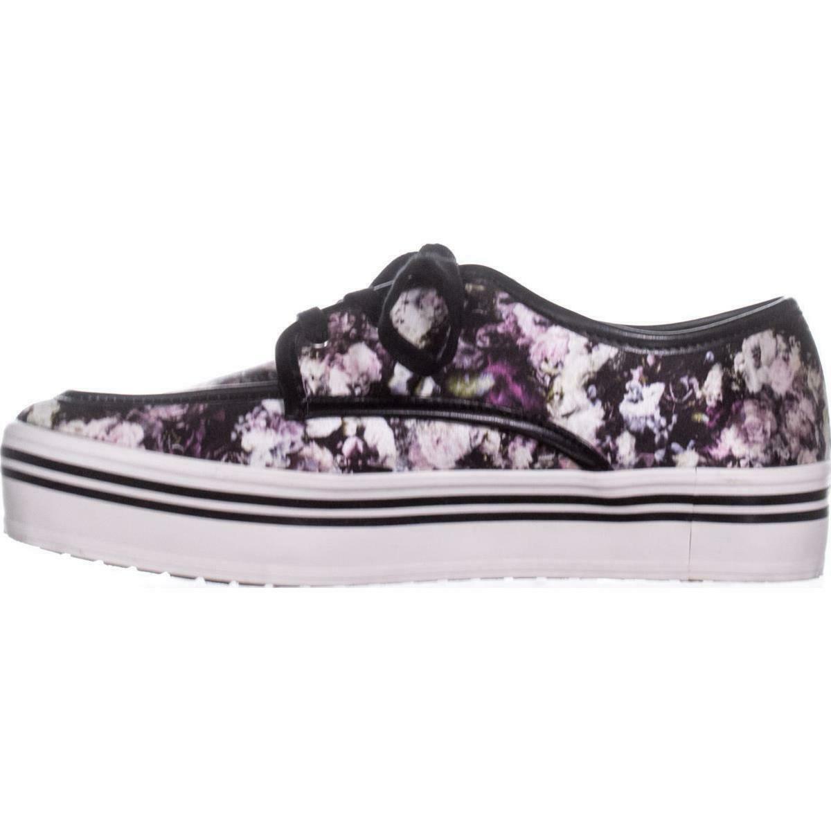 DV by Dolce Vita Jaimee Platform Fashion Sneakers 764, Floral Print, 8.5 US