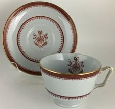 Spode Newburyport Y3360 Red Cup & saucer - $8.00