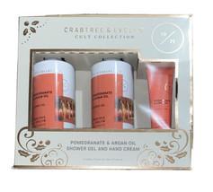 Crabtree & Evelyn Pomegranate & Argan Oil Shower Gel 8.4 Gift Set NEW - ... - $15.25