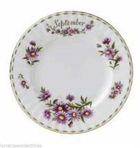 """Royal Albert SEPTEMBER Flower of the Month 8"""" PLATE NEW - $34.64"""