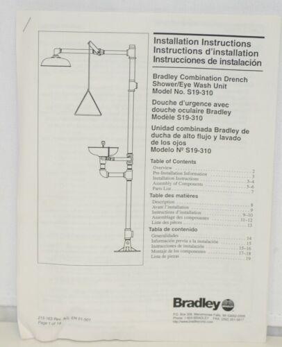 Bradley S19310 Combination Drench Shower Eye Wash Unit Plastic Bowl