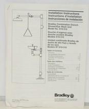 Bradley S19310 Combination Drench Shower Eye Wash Unit Plastic Bowl image 1