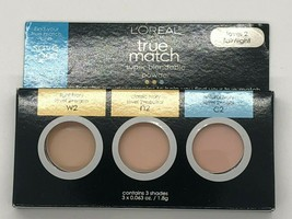 L'Oreal True Match Super-Blendable Powder Set of 3 Samples Level 2 Fair/Light - $6.99