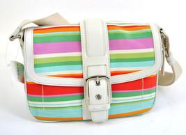 Coach Hampton Striped HOBO Convertable Crossbody Bag Purse Handbag F10701  - $123.21