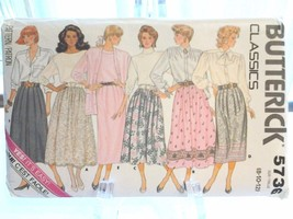 Butterick 5736 Misses Classics 6 Skirts , sizes 8-10-12, 1987, New - $6.99