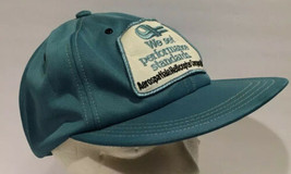 Vintage Aerospatiale Helicopters Light Blue Snapback Hat Cap Patch USA - $26.17