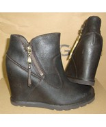 UGG Australia MYRNA Lodge Wedge Leather Sheepskin Boots Size US 7 NIB #1... - $94.00