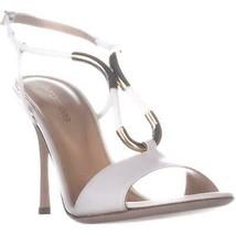 Sergio Rossi A77401 Slingback Stiletto Sandals, White/Gray White, 6.5 US... - $336.95