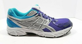 Asics Lady Gel-Contend Running Shoes Size 10.5, Womens, Blue/Purple/Grey - $40.98
