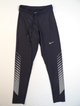 Nike Dri Fit Black Reflective Long Running Tights Mens NWT - $74.99