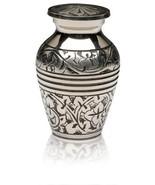 Funeral Keepsake Urn by SoulUrns - Silver Oak Keepsake Urn With Velvet B... - $18.73