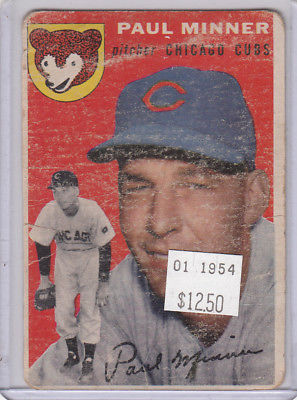 1954 Topps 28 Paul Minner Not Graded 01