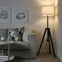 IKEA LAUTERS Floor lamp, brown ash, white (adjustable) - $71.52