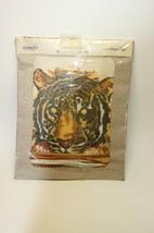 """Vintage WonderArt #5244 Needlepoint 12"""" Bengal Tiger Pillow Kit - Rough ... - $18.80"""