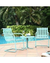 New old Southern style Gracie 3 piece outdoor furniture set Caribbean Blue  - $319.00