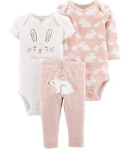 Carter's 3-Piece Girls Set, Bunny (6 Months) - $17.99