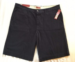 Merona Flat Front Shorts Relaxed Below Knee Navy 5 Pocket Size 38 NWT - $9.85
