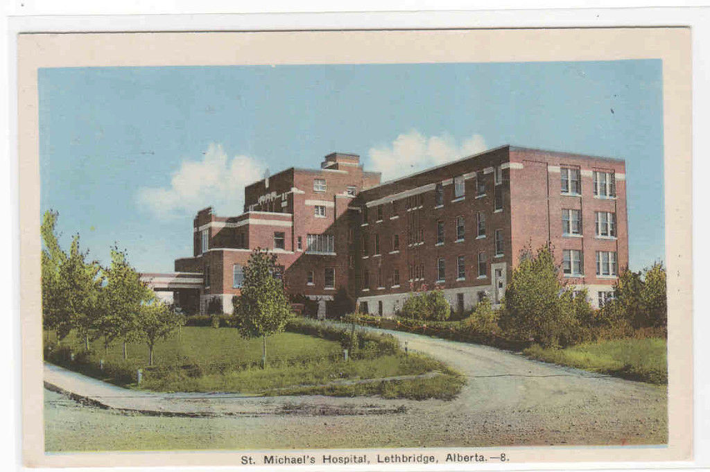 St Michaels Hospital Lethbridge Alberta Canada postcard
