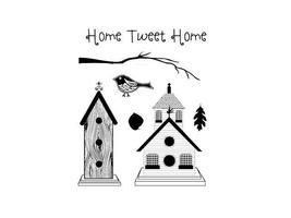 Technique Tuesday Home Tweet Home Clear Stamp Set #LTHTH