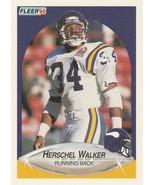 1990 Fleer #107 Herschel Walker - $0.50