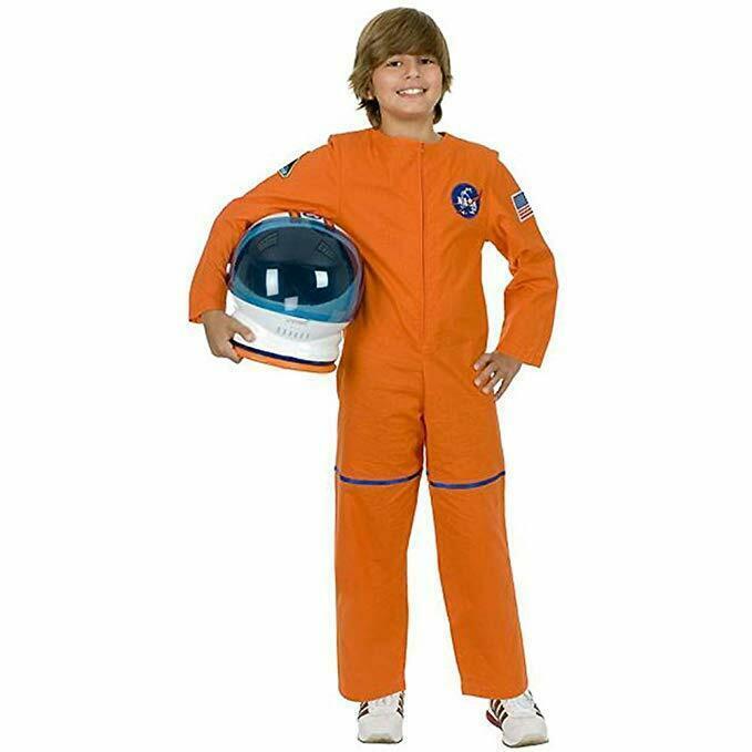 Charades Astronauta Volo Abito Nasa Arancione Bambini Costume Halloween CH00582