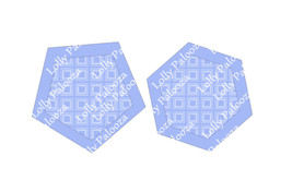 Pentagon, Hexagon Shakers DIGITAL Files.  Instant Download. PNG & SVG Files.  No