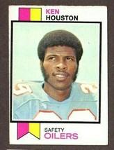 1973 TOPPS FOOTBALL #415 KEN HOUSTON (HOF) CARD- HOUSTON OILERS - $2.92