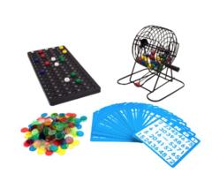 Bingo Set Family Fun Large party game Complete Kit 75 Balls 300 Chips 50... - $31.07