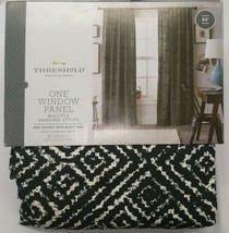"1 Threshold Single Window Panel Black Diamond Print Curtain 54"" x 84"" - $29.00"