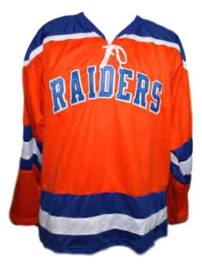 Brian Perry #19 New York Raiders Custom Retro Hockey Jersey New Orange Any Size