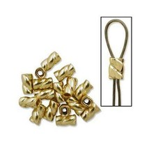 10pcs. - 14k Gold Filled 3mm Twisted Crimp 1.7 Gram For 014 Wire