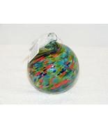 "NIB GIFT CRAFT 4"" GLASS FRIENDSHIP BALL RED BLUE & GREEN # 460862L  - $14.99"