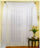 """SHEER VOILE 216"""" WINDOW SCARF WHITE - $11.86"""