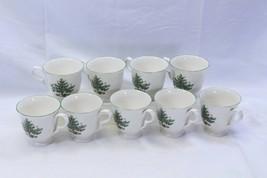 "Nikko Happy Holidays Xmas Cups Mugs 3.5"" Lot of 9 - $48.99"