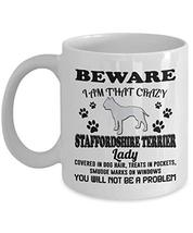 Staffordshire Terrier Mug Coffee Tea Cup Funny Gifts for Men Women Mom Dad - 11  - $14.80